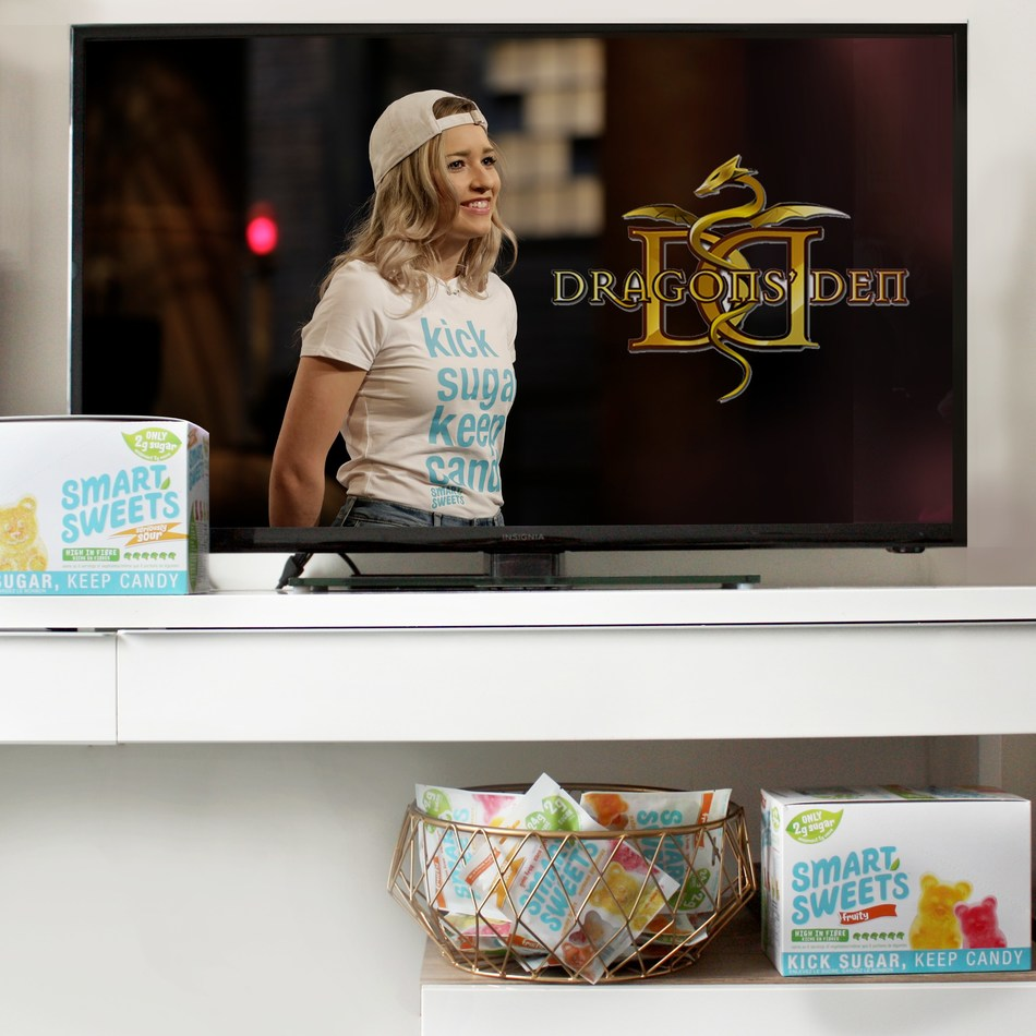 Bosch's Dragons Den segment aired on September 28th, the season 12 premiere, where Bosch received offers from all six Dragons. (CNW Group/Smart sweets)