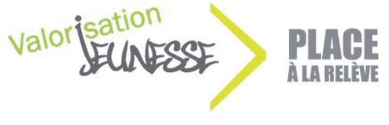 Logo : Valorisation Jeunesse - Place à la relève (Groupe CNW/Ministère de l'Immigration, de la Diversité et de l'Inclusion)