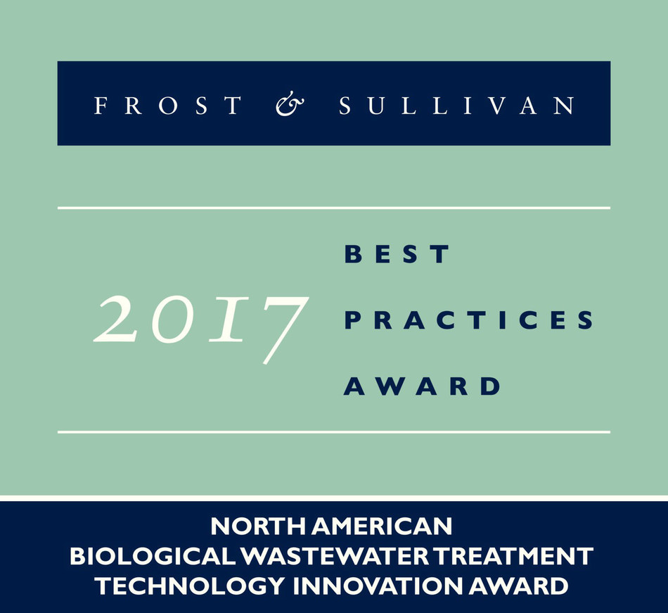 2017 North American Biological Wastewater Treatment Technology Innovation Award (PRNewsfoto/Frost & Sullivan)