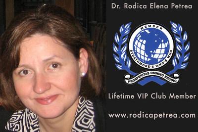 Strathmore's Who's Who Lifetime VIP Member Dr. Rodica Elena Petrea