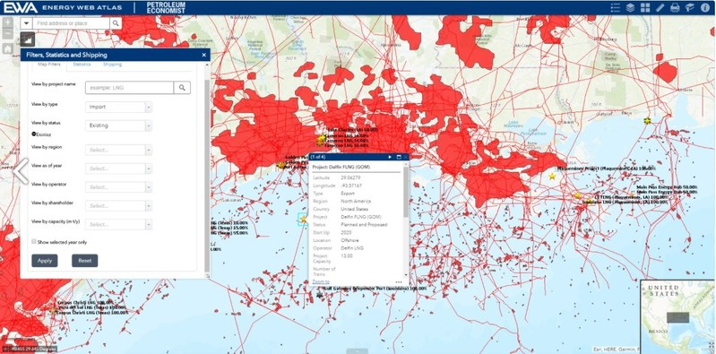 Tracking close to 500 LNG facilities/projects, the Energy Web Atlas is a one-stop source for comprehensive industry intelligence.