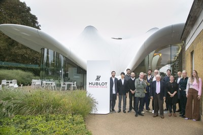 Jury and candidates in front of the Serpentine Gallery (PRNewsfoto/Hublot)
