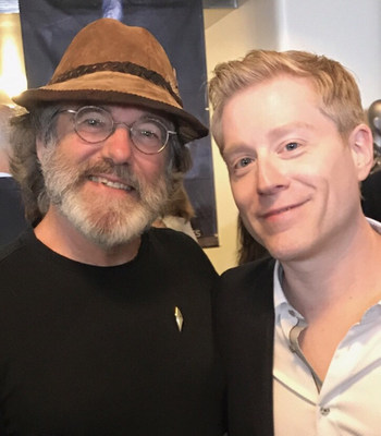Paul Stamets attends the premier of Star Trek: Discovery.  Here he stands with actor Anthony Rapp, who portrays AstroMycologist Lt. Paul Stamets.