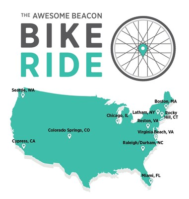 Beacon will host rides nationwide in the following cities: Latham, NY (Oct.3); Cypress, Calif. (Oct. 4); Raleigh/Durham, NC (Oct. 4); Reston, Va. (Oct. 4); Seattle, Wash. (Oct. 5); Chicago, Ill. (Oct. 6); Colorado Springs, Colo. (Oct. 6); Boston, Mass. (Oct. 7); Miami, Fla. (Oct. 7); Rocky Hill, Conn. (Oct. 7); and Virginia Beach, Va. (Oct. 7).  Funds raised will benefit Mental Health America (MHA and National Alliance on Mental Illness's (NAMI).