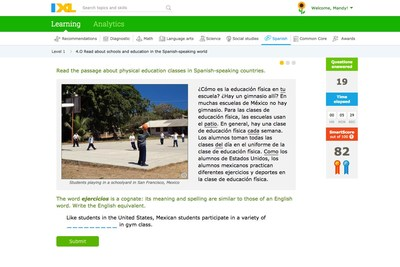 IXL goes beyond teaching the mechanics of the Spanish language to educate students about the different cultures of the Spanish-speaking world.