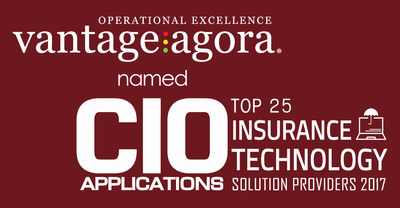 Vantage Agora named Top 25 Insurance Technology Solution Provider