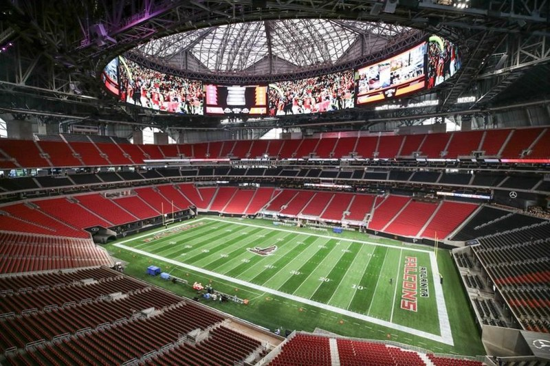 NovaCopy has partnered with Atlanta Falcons, Atlanta United and Mercedes-Benz stadium. NovaCopy will provide office technology, document solutions and other related services.  (Photo courtesy Mercedes-Benz Stadium.)