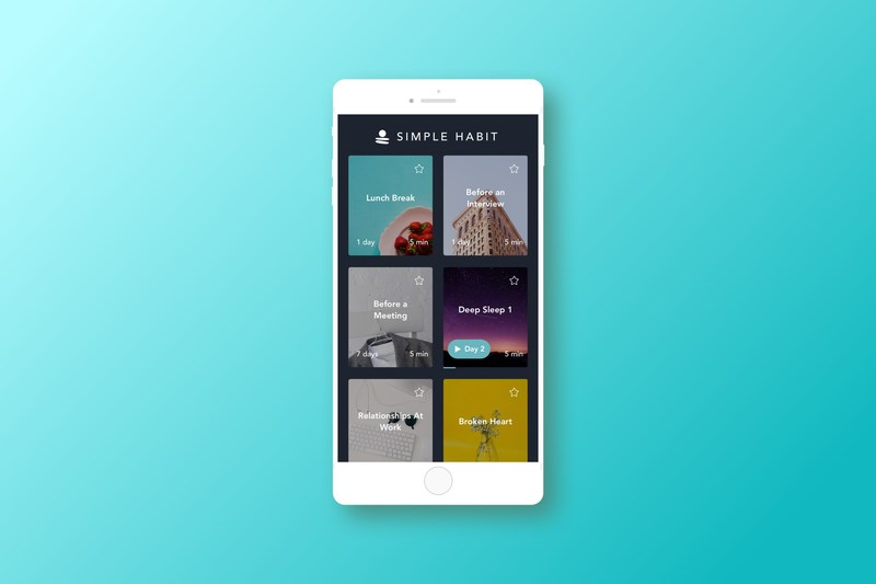 Designed by top meditation teachers, Simple Habit offers more than 1,000 guided meditations for any situation and mood — including before sleep, taking a work break, commuting, and more. Simple Habit provides a personalized experience to match you with meditations that fit your lifestyle and needs.