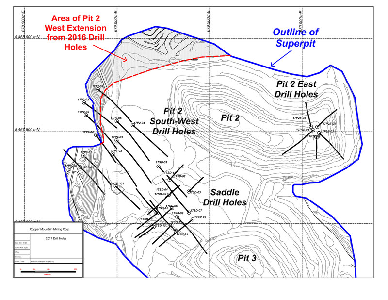 Map of Drill Hole Locations (CNW Group/Copper Mountain Mining Corporation)