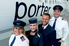 Porter Airlines pilots and flight attendants will wear custom Fly Pink epaulets and pins to raise awareness for breast cancer during the month of October. (CNW Group/Porter Airlines Inc.)
