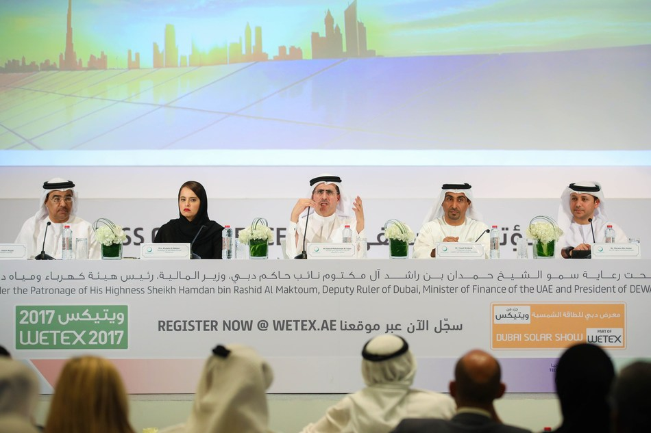 DEWA announces the launch of WETEX 2017 from 23 to 25 October 2017 (PRNewsfoto/Dubai Electricity & Water)