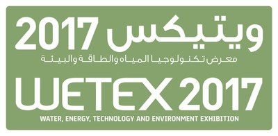 WETEX 2017 logo (PRNewsfoto/Dubai Electricity & Water)