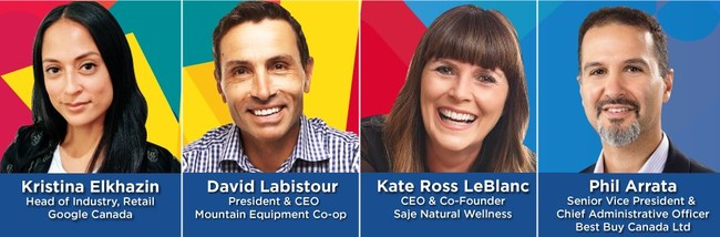 Retailer leaders speaking at Retail West on Oct 12, 2017 in Vancouver (CNW Group/Retail Council of Canada)