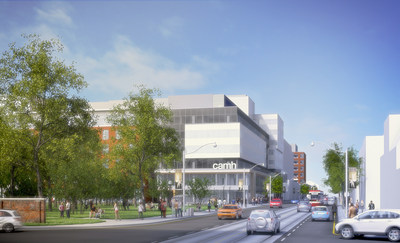 CAMH's new Complex Care & Recovery Building as seen from Shaw Street and Queen Street West (Architectural concept drawing). (CNW Group/Centre for Addiction and Mental Health)