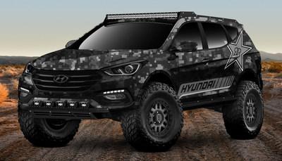 Hyundai Energizes the 2017 SEMA Show with Rockstar Energy Moab Extreme Off-roader Santa Fe Sport Concept