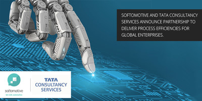 Customers can benefit from TCS' expertise on Softomotive's World-Class RPA Platform (PRNewsfoto/Softomotive)