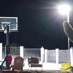 Backyard LED Basketball Court Lighting Solution