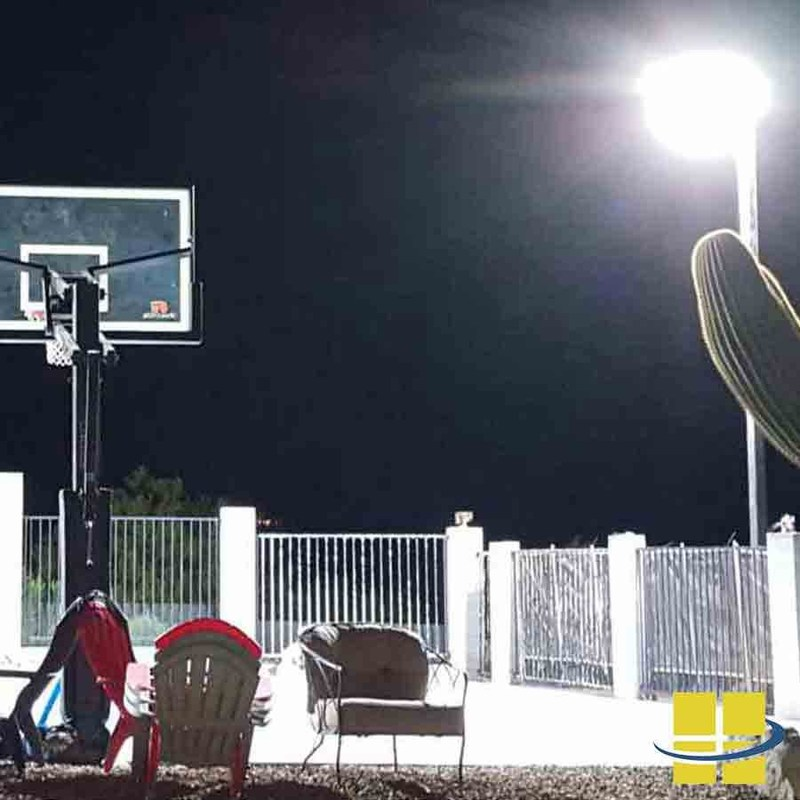 Backyard LED Basketball Court Lighting Solution