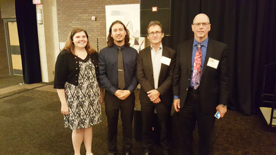 Nobel Prize in Chemistry winner, Dr. Bernard L. Feringa, with Dr. Mike Dziewatkoski, Kayla Strunz and Tomas Garrett of Eurofins SF Analytical, Inc.