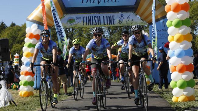 In 2016, Tour DaVita cyclists rode through Nashville, Tennessee, raising $1.5 million for Bridge of Life.