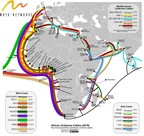 Undersea Cable Networks around the African Continent (PRNewsfoto/Moya Networks)
