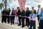 AutoNation and the City of Fort Lauderdale Kick Off Breast Cancer Awareness Month with the unveiling of a nearly 20-foot pink ribbon on Fort Lauderdale Beach