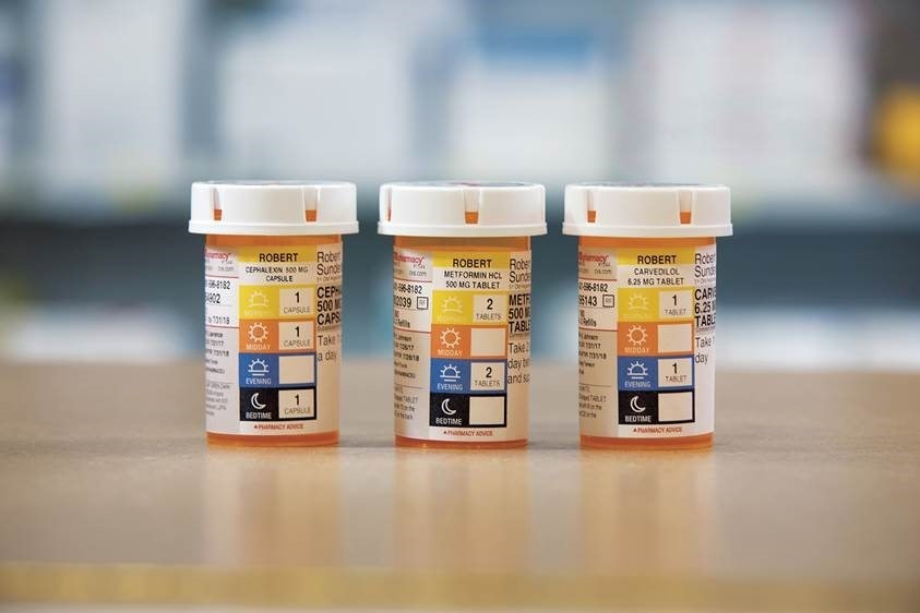 The new ScriptPath prescription bottle label, which features easy-to-read icons and along with optimal dosing time recommendations, will roll out in early 2018.