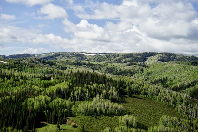This expansive spread covers over 34 square miles on the north flank of the Flat Tops near Steamboat Springs, Colorado.