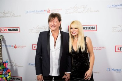 L to R: Richie Sambora and Orianthi Attend & Perform at T.J. Martell's Spirit of Excellence Dinner