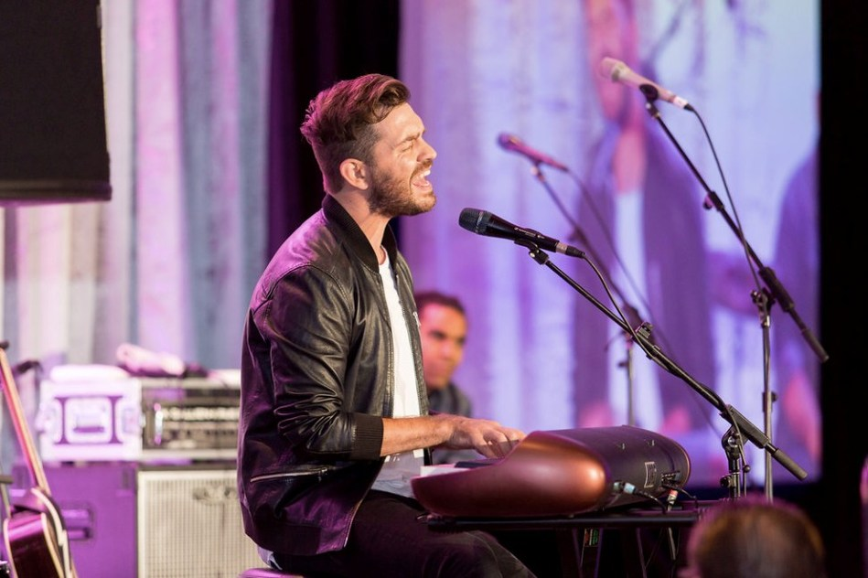 Multi-platinum selling artist Andy Grammer reminded attendees why we can celebrate life on this dark day (referring to the Las Vegas tragedy).