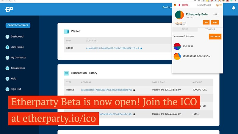 Etherparty Opens Beta to 500+ Blockchain Users (CNW Group/Etherparty)