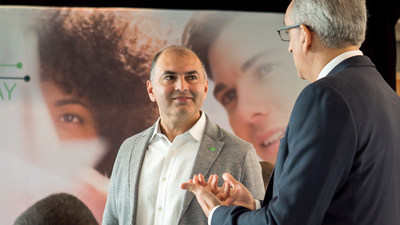 Zor Gorelov, CEO and Co-Founder at Kasisto CEO (right) and Rizwan Khalfan, Executive Vice President and Chief Digital and Payments Officer at TD (left)