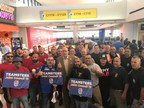 Teamsters International Vice President George Miranda (center) joins the 79 volunteers from the union prior to their departure from Newark Liberty International Airport this morning to help with relief efforts in Puerto Rico for the next two weeks.