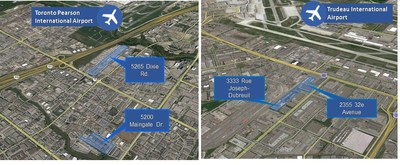 Mississauga and Montreal Acquisition Locations (CNW Group/Pure Industrial Real Estate Trust (PIRET))