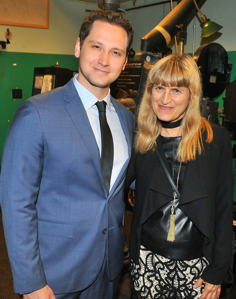 Actor and activist, Matt McGorry (How to Get Away With Murder, Orange is the New Black), and director Catherine Hardwicke (Twilight, Lords of Dogtown) at Catalina Film Festival, in the projection room of the historic Avalon Theatre. Credit: Jerod Harris
