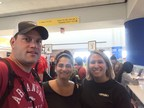 OPEIU Local 22 nurse member Kris Teed, RN, and OPEIU Local 459 nurse members Elizabeth Moreno, RN, and Kyra Keusch, RN, join more than 300 working men and women who volunteered to travel to San Juan, Puerto Rico from Newark, N.J. to help with Hurricane Maria's relief efforts.