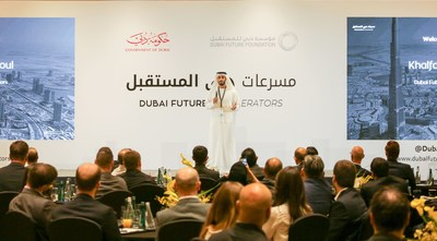 CEO of DFA, Khalfan Belhoul welcomes the new teams to Dubai and Dubai Future Accelerators at the Opening Ceremony of Cohort 3 (PRNewsfoto/Dubai Future Accelerators)