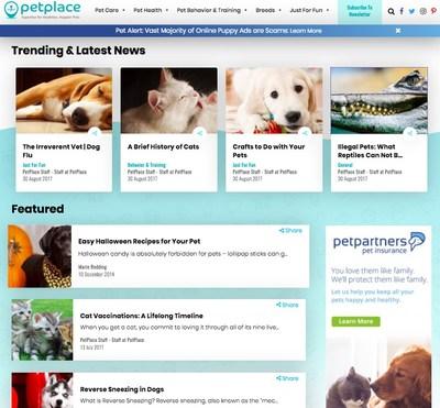 PetPlace.com Unveils Redesigned Website