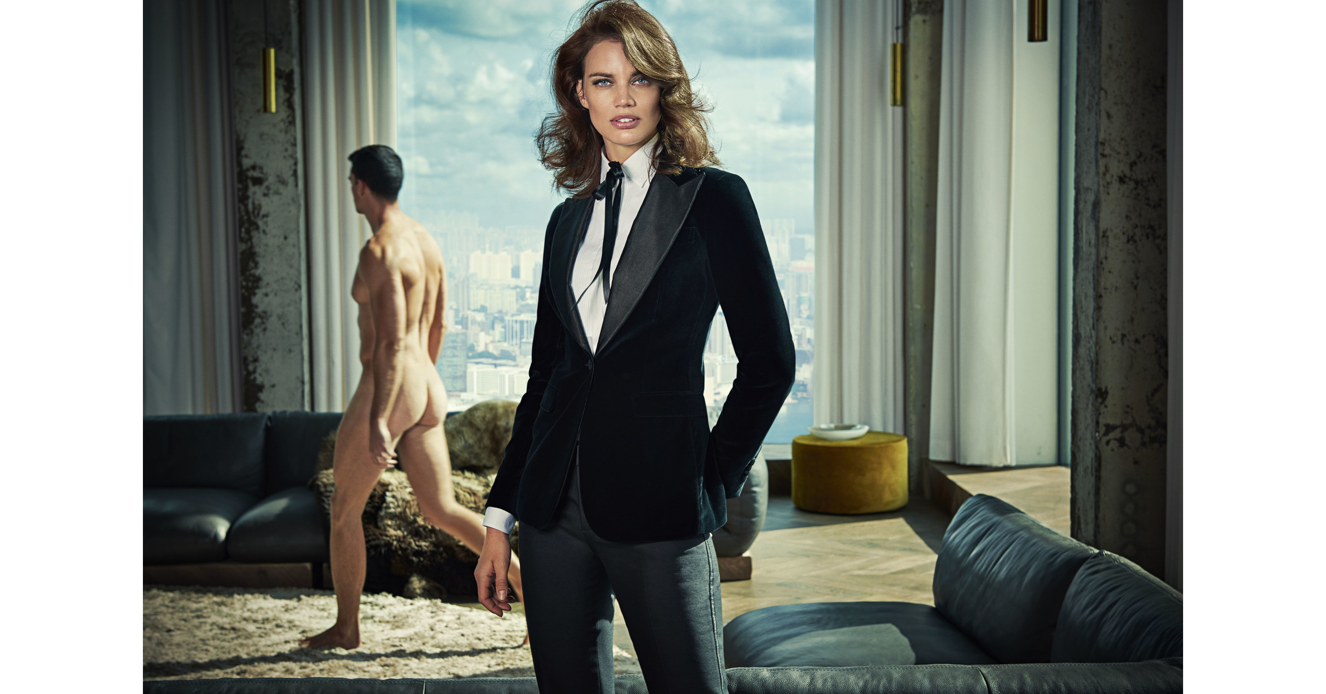 Womens suit company Suistudio leaves men naked in ads