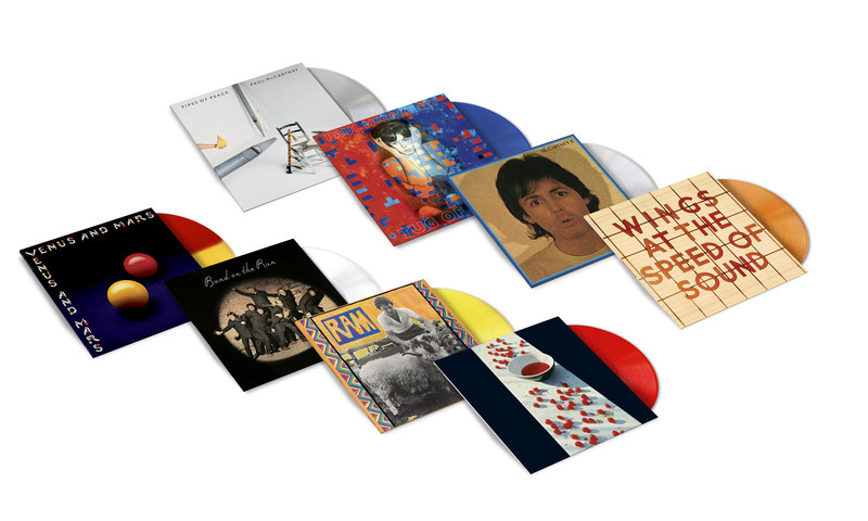 THE PAUL McCARTNEY ARCHIVE COLLECTION COMPLETE YOUR COLLECTION NOVEMBER 17, 2017 EIGHT TITLES TO BE RE-RELEASED VIA MPL/Capitol/UMe FEATURING LIMITED EDITION 180g COLOR VINYL PRESSINGS Paul McCartney: McCartney, McCartney II,  Tug Of War, Pipes Of Peace Paul and Linda McCartney: Ram Paul McCartney and Wings: Band On The Run Wings: Venus And Mars, At The Speed Of Sound