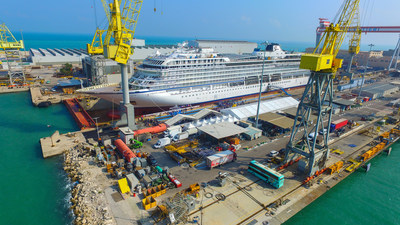"Viking celebrated the company's fifth 930-guest ocean ship, Viking Orion, major milestone last week, when the ship met water for the first time during her ""float out"" ceremony at Fincantieri's Ancona shipyard. Visit www.vikingruises.com for more information."