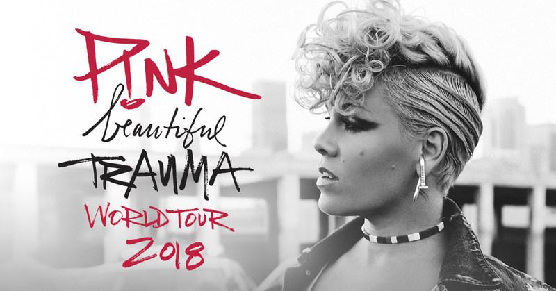 International Pop Icon P!NK Announces Beautiful Trauma World Tour 2018