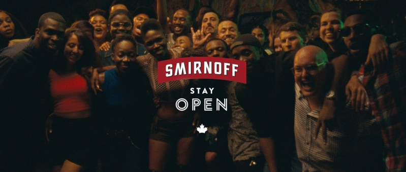 "Smirnoff Canada's ""Stay Open"" campaign celebrates inclusivity through the power of good times (CNW Group/Smirnoff Canada)"
