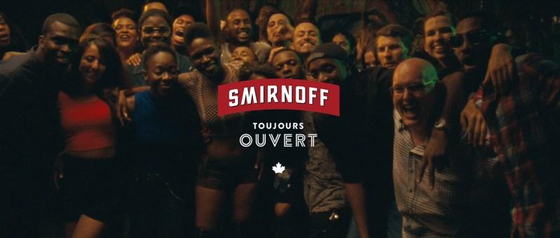 La campagne « Toujours ouvert » de Smirnoff Canada célèbre l'inclusion grâce au pouvoir des bons moments. (Groupe CNW/Smirnoff Canada)
