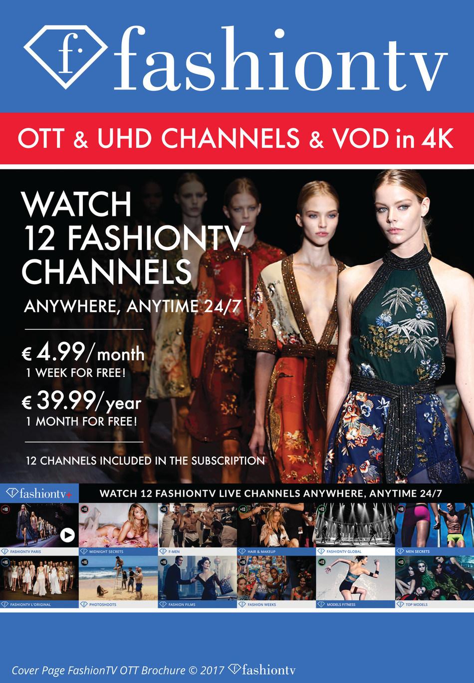 """""""Cover Page FashionTV OTT"""", Copyright FashionTV (PRNewsfoto/FashionTV)"""