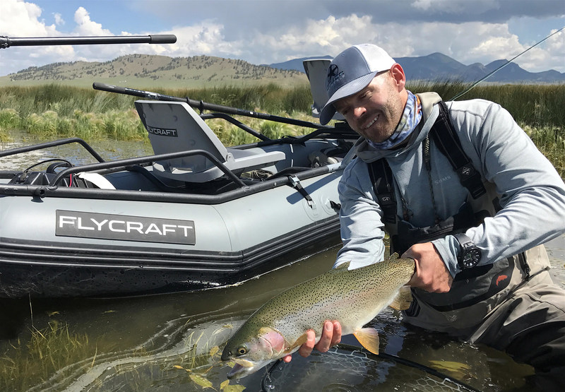 Landon Mayer, legendary fly fishing author and pro, is Flycraft USA's newest brand ambassador. Flycraft USA makes inflatable fishing boats.