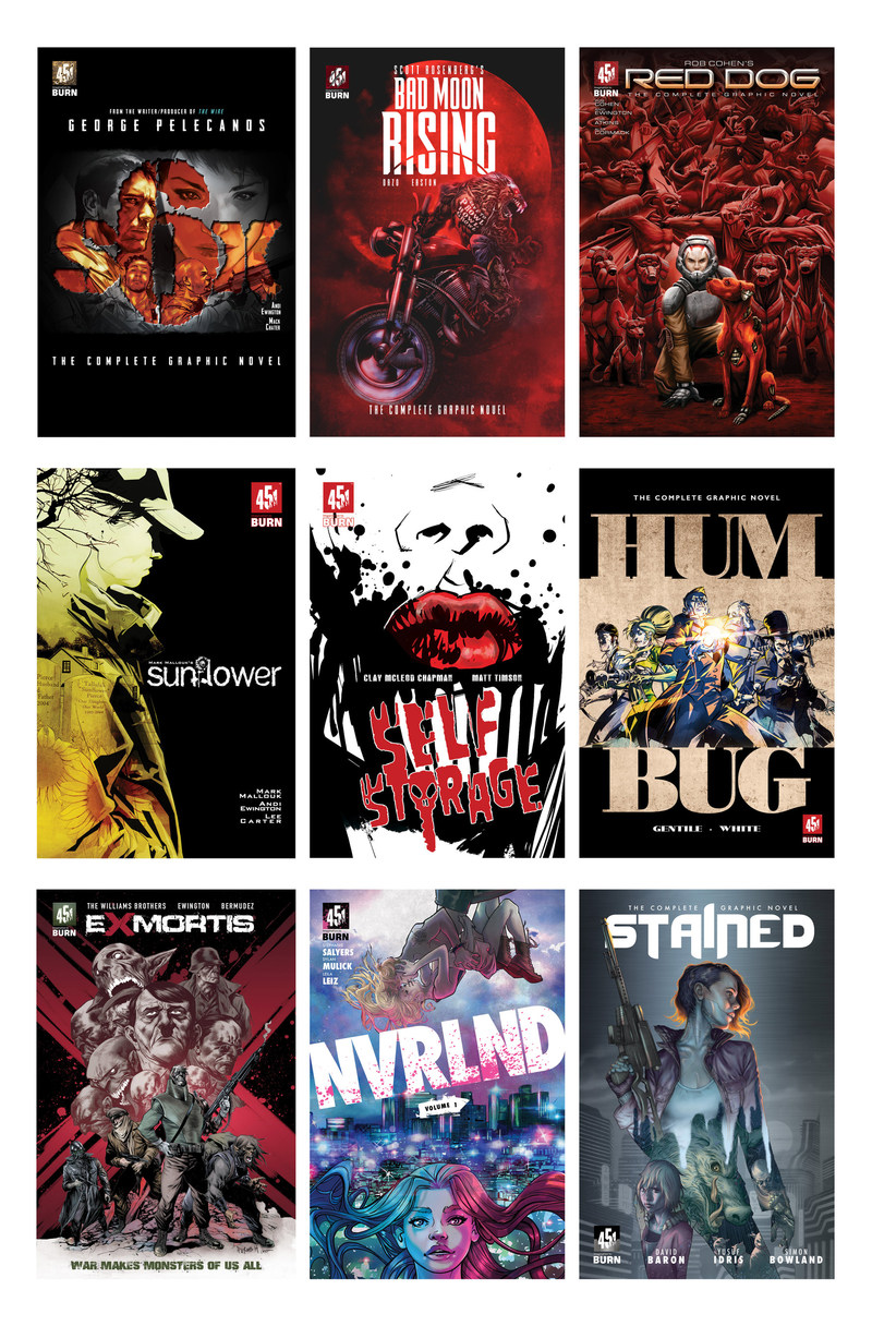 "451 Media Group will exclusively premier nine graphic novels, created by top Hollywood writers of ""The Deuce"", ""X-Men First Class"", ""The Fast and Furious"" and other blockbusters, at this year's New York Comic Con."