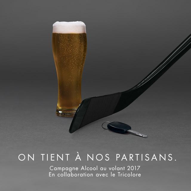 Nouveau joueur dans la lutte contre l'alcool au volant - La SAAQ et les Canadiens de Montréal font équipe pour sensibiliser la population (Groupe CNW/Société de l'assurance automobile du Québec)