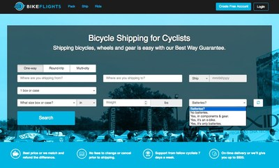 Enhancements to BikeFlights.com's website help the company better serve cyclists who want to ship bikes and gear with batteries, including pedal-assist e-bikes and standalone batteries.