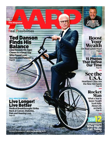 AARP The Magazine October/November Issue Featuring Ted Danson